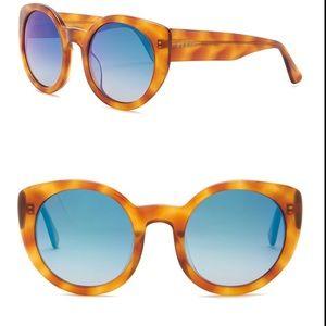 DIFF Luna Round cat eye 54mm Acetate sunglasses